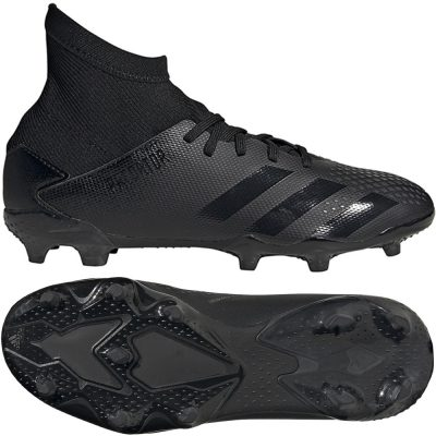 adidas PREDATOR 20.3 Gras Voetbalschoenen (FG) Kids Zwart Zwart Grijs