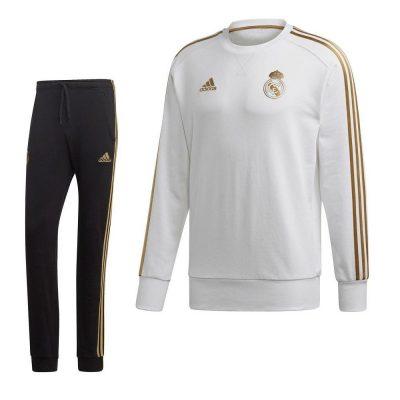 adidas Real Madrid Sweat Trainingspak 2019-2020 Wit Goud