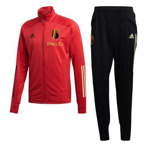 adidas Belgie Trainingspak 2020 Kids Rood Zwart