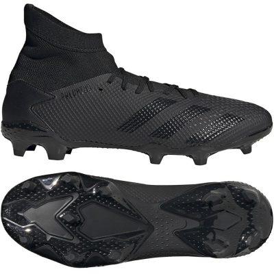 adidas PREDATOR 20.3 Gras Voetbalschoenen (FG) Zwart Zwart Grijs