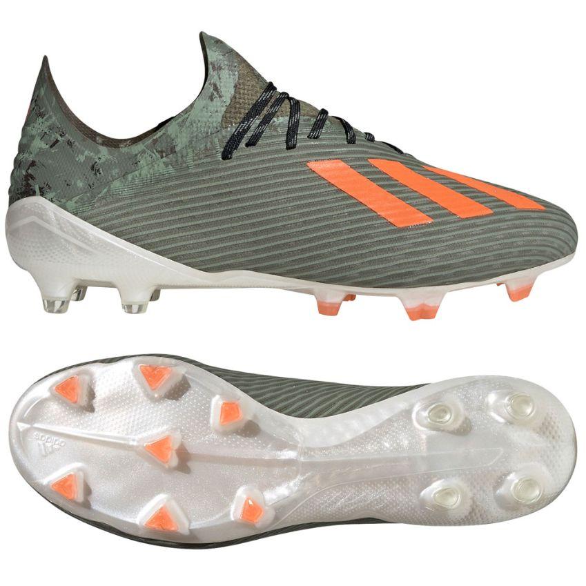 adidas X 19.1 Gras Voetbalschoenen (FG) Groen Oranje