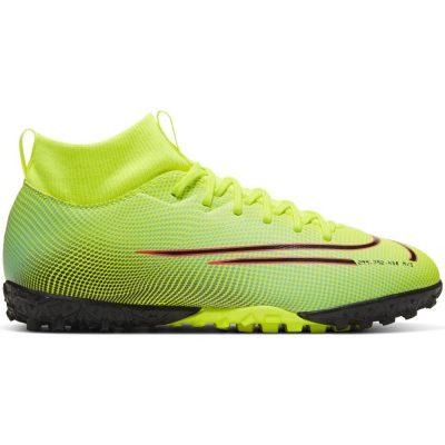 Nike Mercurial Superfly 7 Academy MDS Turf Voetbalschoenen (TF) Kids Geel Blauw Roze