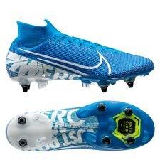 Nike Mercurial Superfly 7 Elite SG-PRO Anti-Clog New Lights - Blauw/Wit