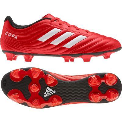adidas COPA 20.4 Gras Voetbalschoenen (FG) Rood Wit Zwart
