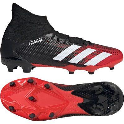 adidas PREDATOR 20.3 Gras Voetbalschoenen (FG) Zwart Wit Rood