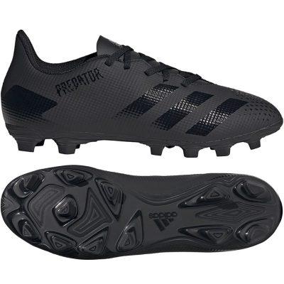 adidas PREDATOR 20.4 Gras / Kunstgras Voetbalschoenen (FxG) Zwart Zwart Grijs