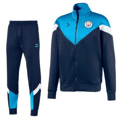 PUMA Manchester City ICONIC Trainingspak 2019-2020 Donkerblauw Lichtblauw Wit