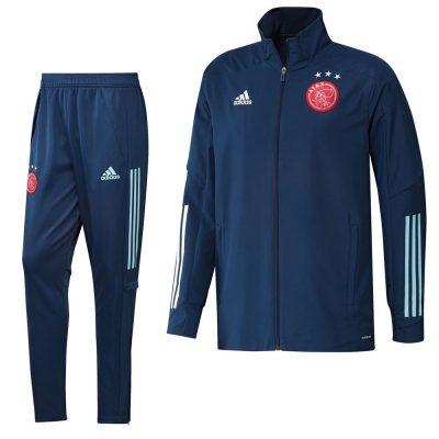 adidas Ajax Presentatie Trainingspak 2020-2021 Donkerblauw