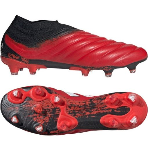 adidas COPA 20+ Gras Voetbalschoenen (FG) Rood Wit Zwart