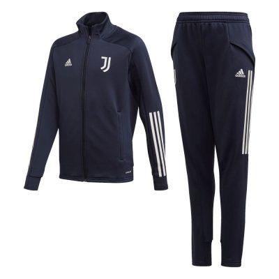 adidas Juventus Trainingspak 2020-2021 Kids Donkerblauw Lichtgrijs