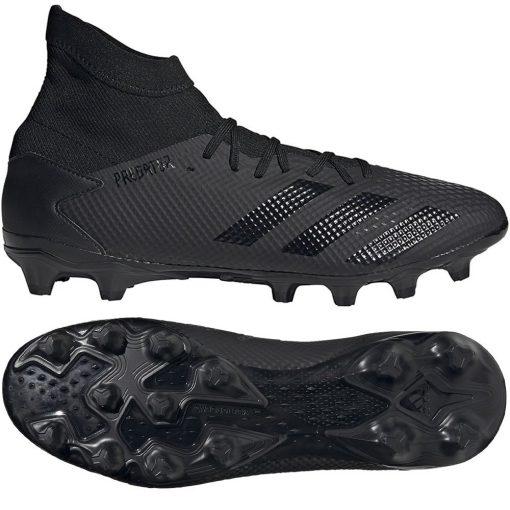 adidas PREDATOR 20.3 Gras / Kunstgras Voetbalschoenen (MG) Zwart Zwart Grijs