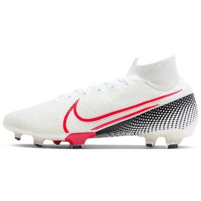 Nike Mercurial Superfly 7 Elite Gras Voetbalschoenen (FG) Wit Rood Zwart