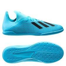 adidas X 19.3 IN Hard Wired - Turquoise/Zwart Kinderen