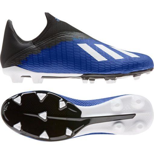adidas X 19.3 LL Gras Voetbalschoenen (FG) Blauw Wit Zwart