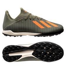 adidas X 19.3 TF Encryption - Groen/Oranje/Wit